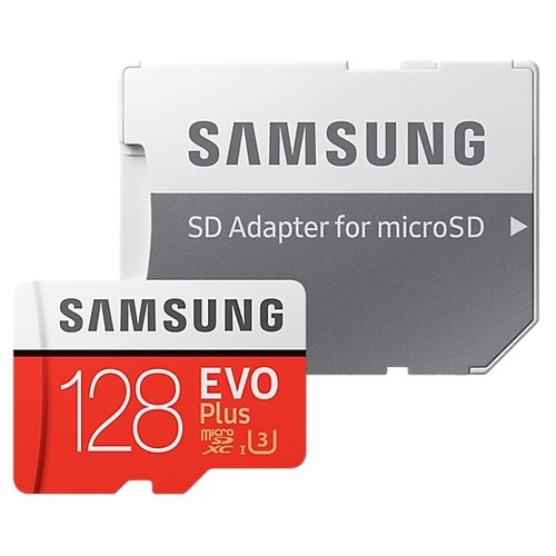 Карта памяти Samsung Evo Plus MicroSD 128Gb + Adapter SD |MB-MC128GA| картинка